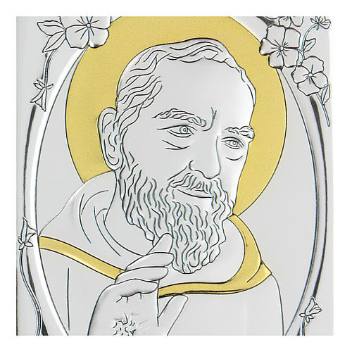 Bajorrelieve bilaminado Santo Padre Pío 10x7 cm 2