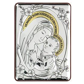Bajorrelieve bilaminado Virgen buen consejo 10x7 cm s1