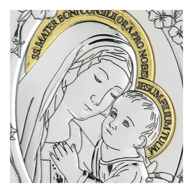 Bassorilievo bilaminato Madonna buon consiglio 10x7 cm 4