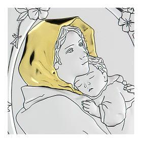 Bajorrelieve bilaminado Virgen Ferruzzi 10x7 cm s2