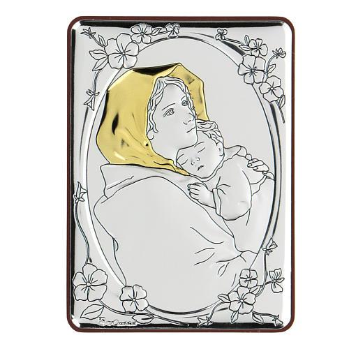Bajorrelieve bilaminado Virgen Ferruzzi 10x7 cm 1