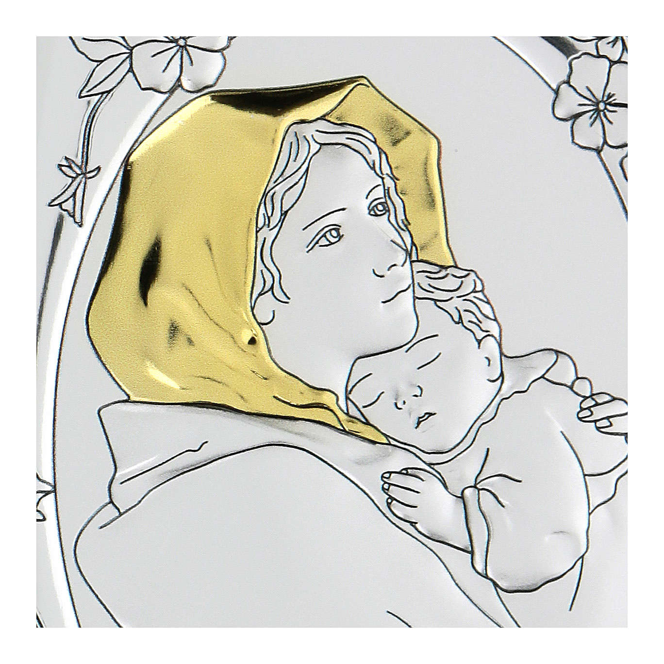 Bassorilievo bilaminato Madonna Ferruzzi 10x7 cm 4