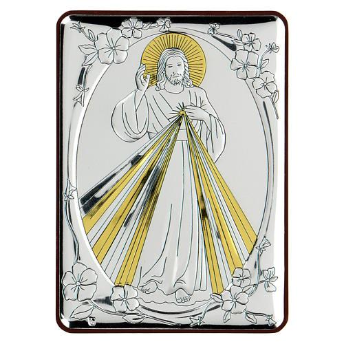 Bassorilievo bilaminato Cristo benedicente 10x7 cm 1
