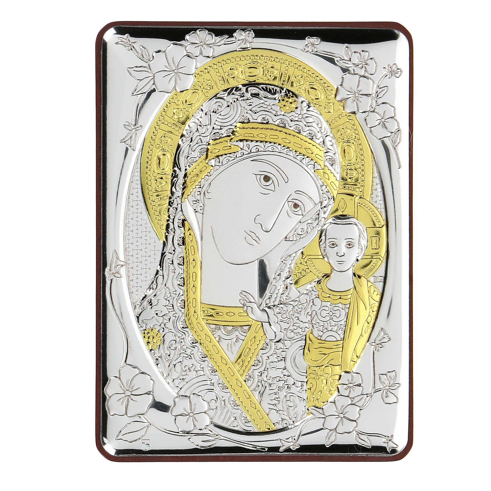 Bajorrelieve bilaminado Virgen Madre de Dios 10x7 cm 4