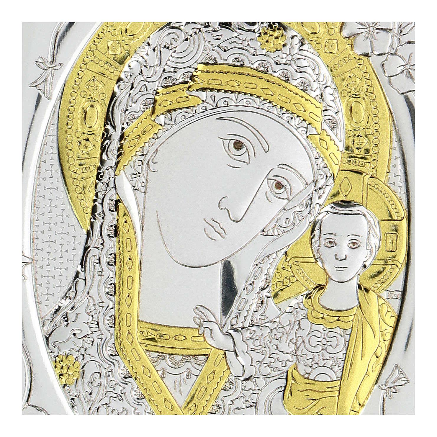 Bassorilievo bilaminato Madonna Madre di Dio 10x7 cm 4