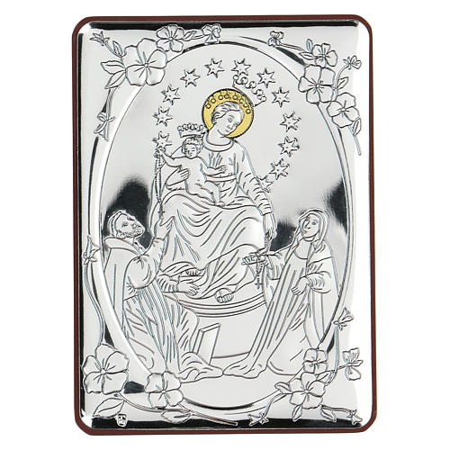 Bajorrelieve bilaminado Virgen con Santos 10x7 cm 1