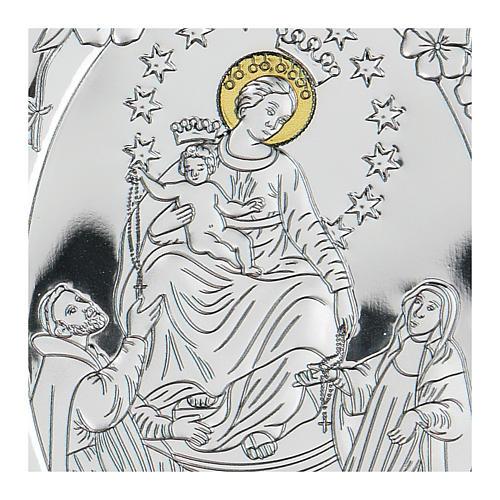 Bajorrelieve bilaminado Virgen con Santos 10x7 cm 2