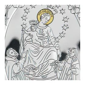 Bassorilievo bilaminato Madonna tra i Santi 10x7 cm s2