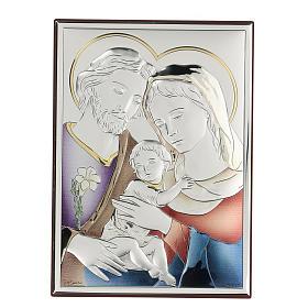 Bassorilievo bilaminato Sacra Famiglia 18x14 cm s1
