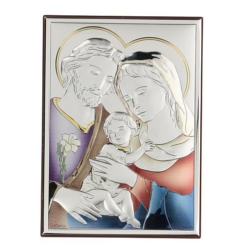 Bassorilievo bilaminato Sacra Famiglia 18x14 cm 1