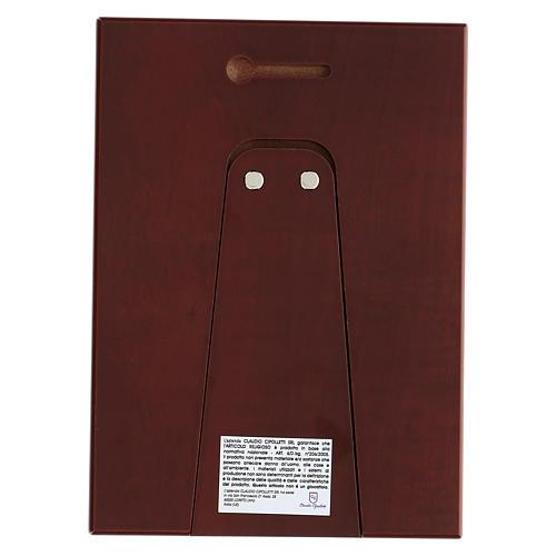 Bassorilievo bilaminato Sacra Famiglia 18x14 cm 3