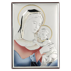 Bassorilievo bilaminato Madonna Ferruzzi 18x14 cm s1