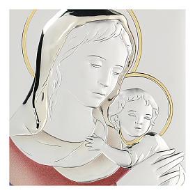 Bassorilievo bilaminato Madonna Ferruzzi 18x14 cm s2