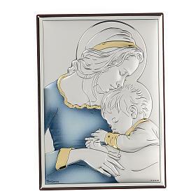 Bassorilievo bilaminato Madonna con bambino di Mugnoz 18x14 cm s1