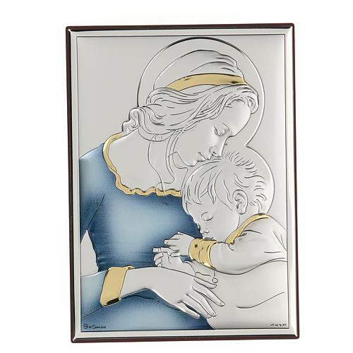 Bassorilievo bilaminato Madonna con bambino di Mugnoz 18x14 cm 1