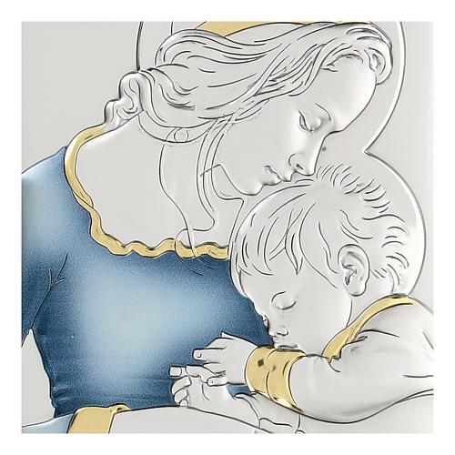 Bassorilievo bilaminato Madonna con bambino di Mugnoz 18x14 cm 2