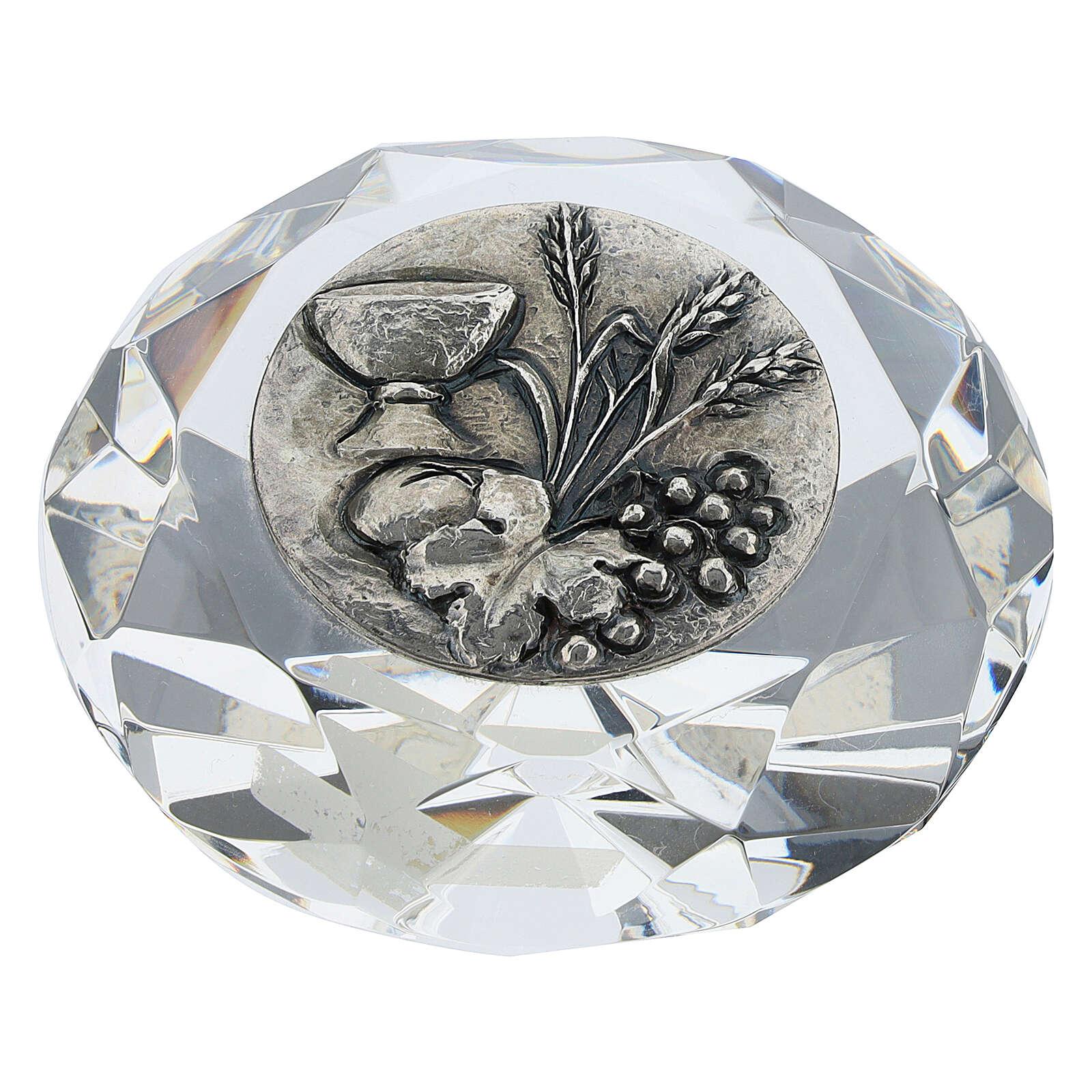 Cuadrito cristal corte diamante bilaminado Primera Comunión 3