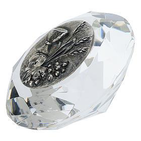 Quadretto cristallo taglio diamante bilaminato Prima Comunione s2