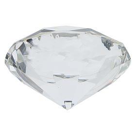 Quadretto cristallo taglio diamante bilaminato Prima Comunione s3