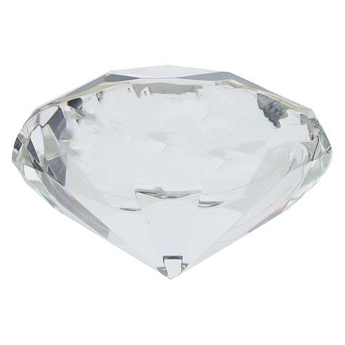 Quadretto cristallo taglio diamante bilaminato Prima Comunione 3
