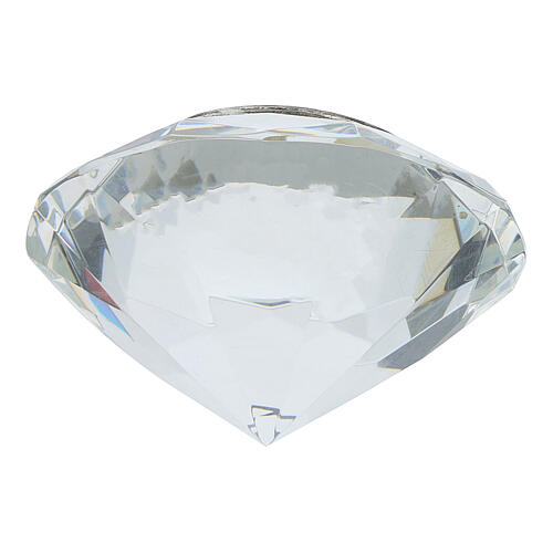 Cuadrito cristal corte diamante bilaminado JHS 3
