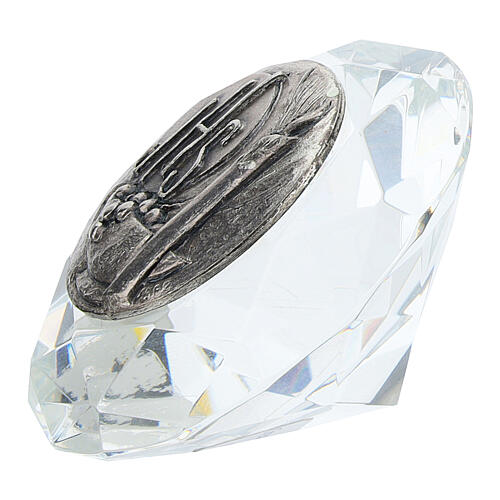 Cadre cristal coupe diamant argent bilaminé JHS 2