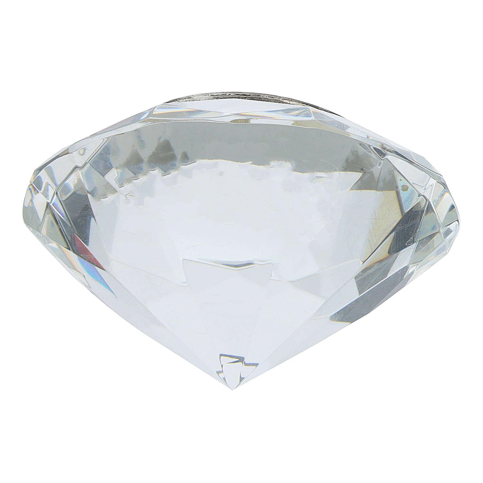Quadretto cristallo taglio diamante bilaminato JHS 3