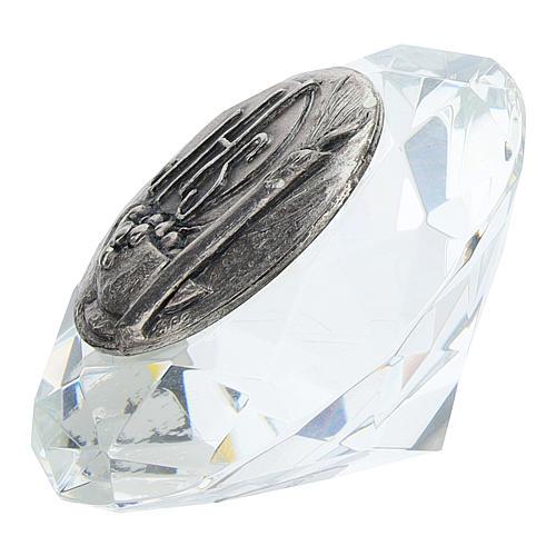 Quadretto cristallo taglio diamante bilaminato JHS 2