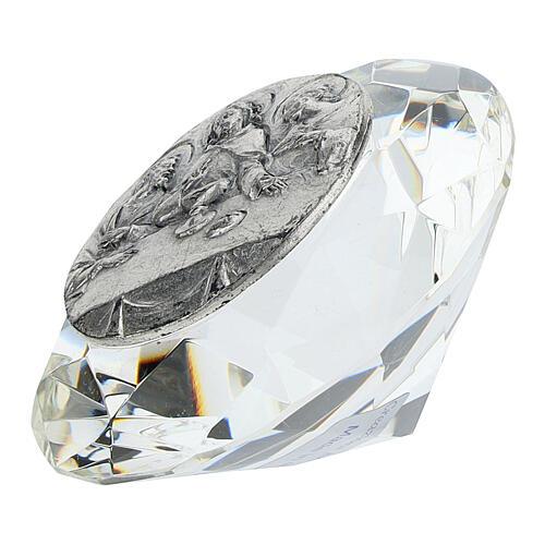 CuadritoÚltima Cena bilaminado cristal diamante 2