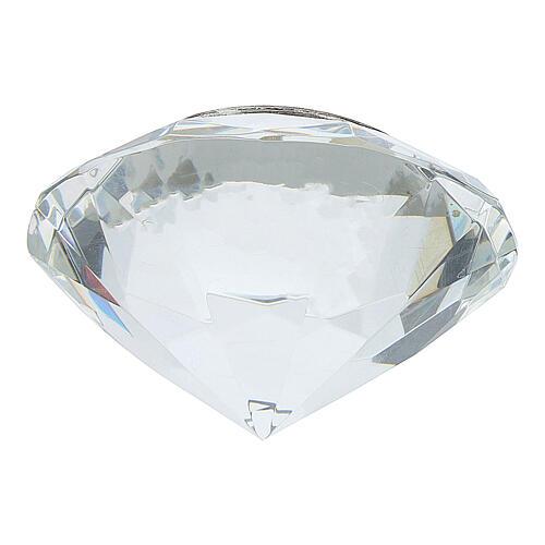 CuadritoÚltima Cena bilaminado cristal diamante 3
