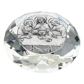 Cadre Cène argent bilaminé cristal en diamant s1