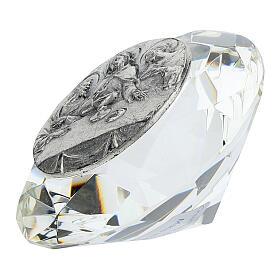 Cadre Cène argent bilaminé cristal en diamant s2