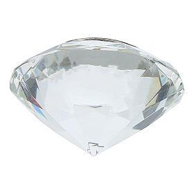 Cadre Cène argent bilaminé cristal en diamant s3