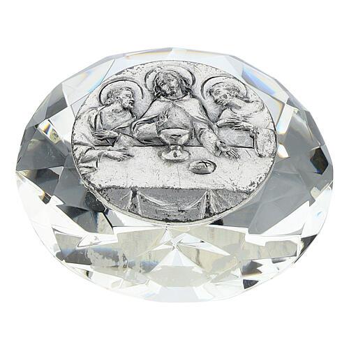 Cadre Cène argent bilaminé cristal en diamant 1