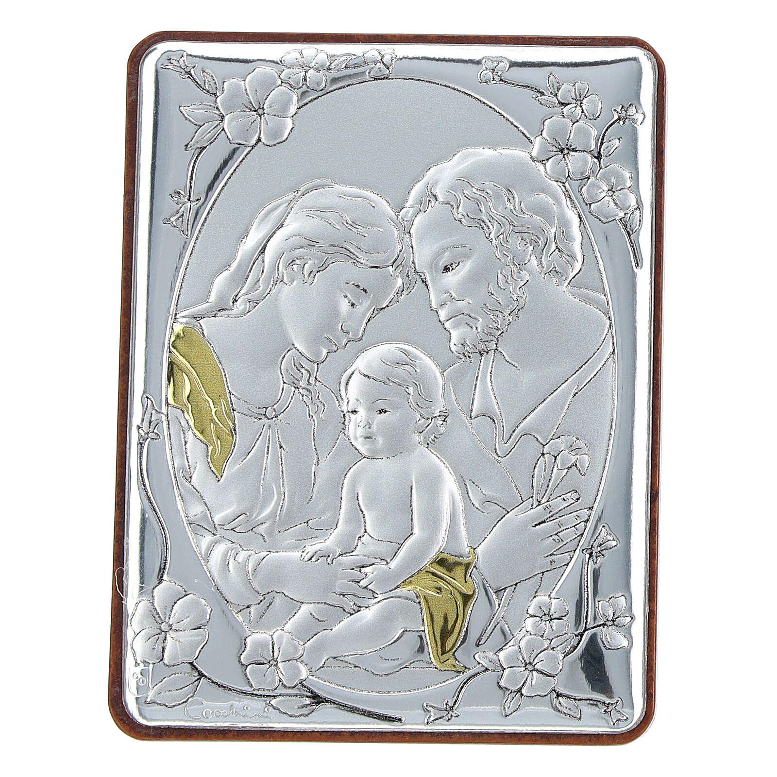 Cadre argent bilaminé Sainte Famille 6,5x5 cm 3