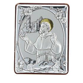 Quadretto San Francesco bilaminato h 6,5 cm s1