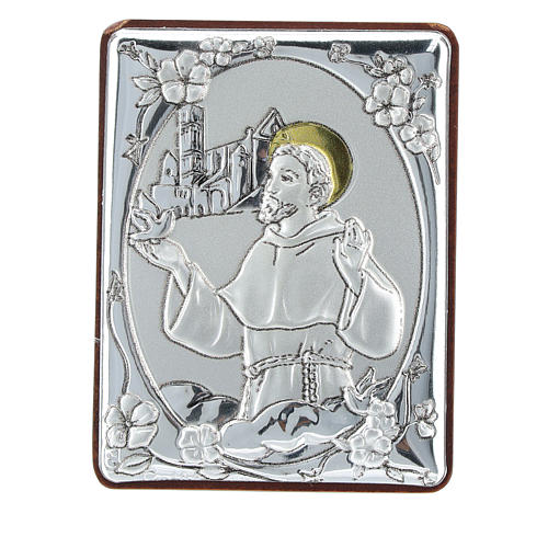 Quadretto San Francesco bilaminato h 6,5 cm 1