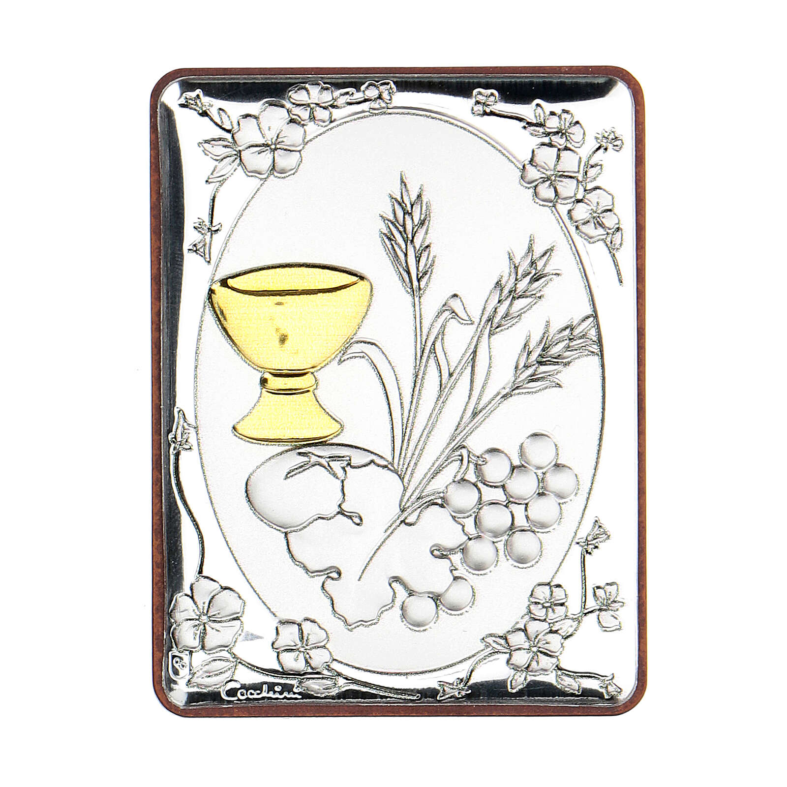 Cadre Communion argent bilaminé 6,5 cm 3