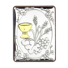 Cadre Communion argent bilaminé 6,5 cm s1
