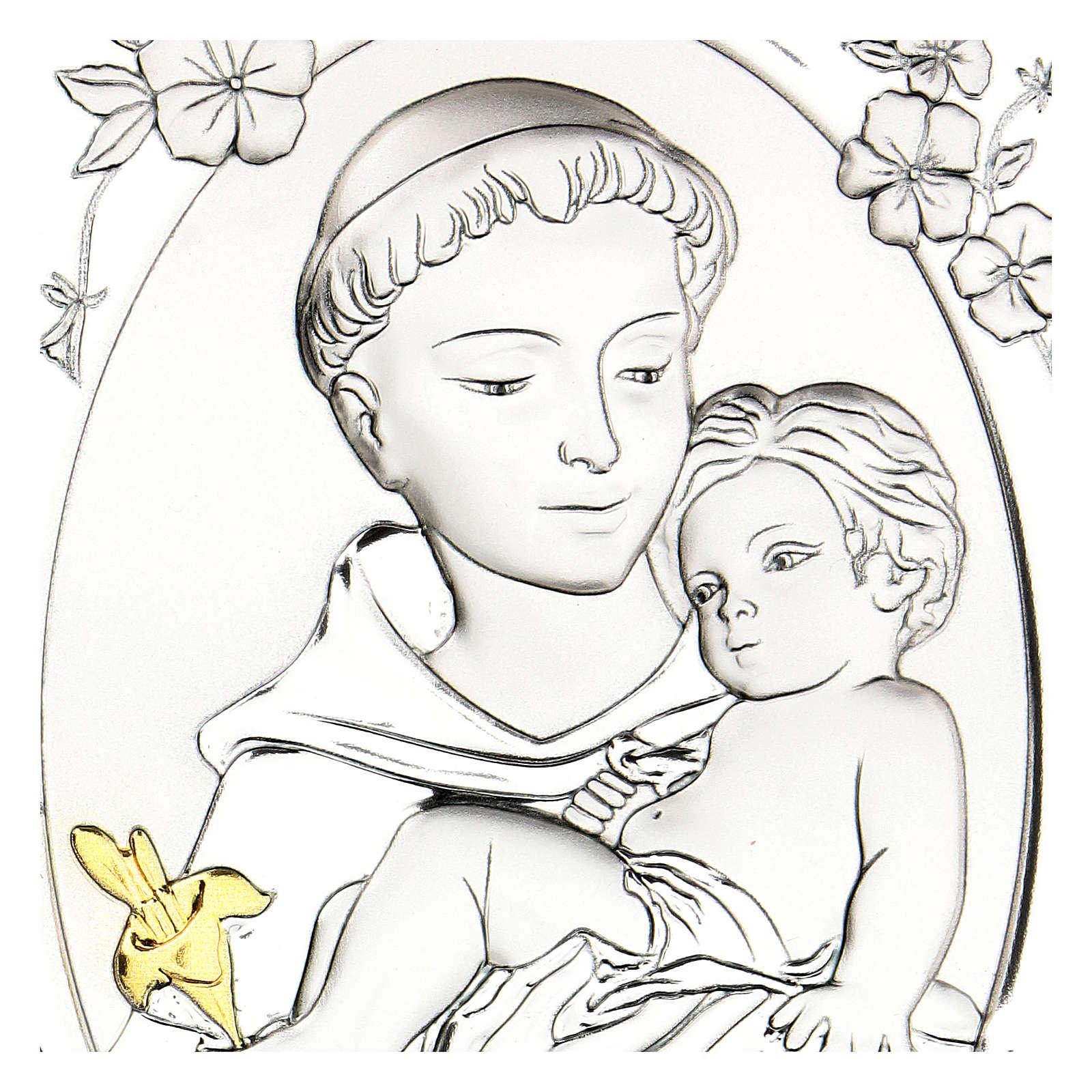 Quadretto Sant'Antonio bilaminato 14x10 cm 3