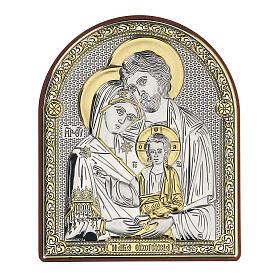 Quadretto Sacra Famiglia stile russo bilaminato 10,5 cm s1