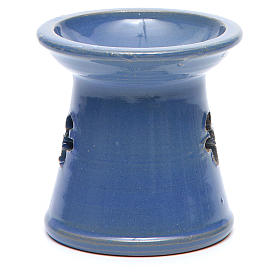 Blue terracotta incense burner s3