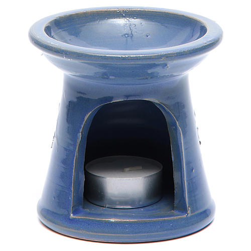 Blue terracotta incense burner 1