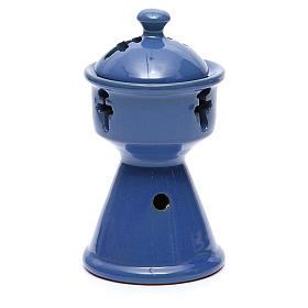 Pebetero etíope cerámica azul s2