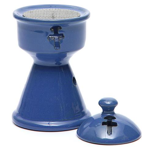 Pebetero etíope cerámica azul 3