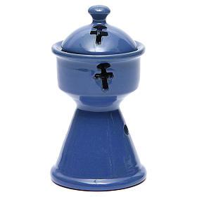 Queimadores de Incenso: Queimador de Incenso Etíope Cerâmica Azul