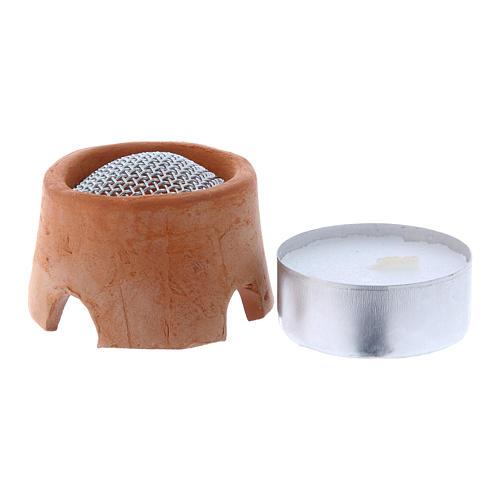 Réchaud brûleur d'encens pour lampe votive 1