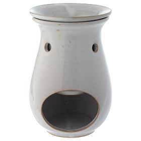 Queimadores de Incenso: Queimador de Essências Cerâmica Branca 18 cm