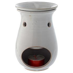 Queimador de Essências Cerâmica Branca 18 cm s2
