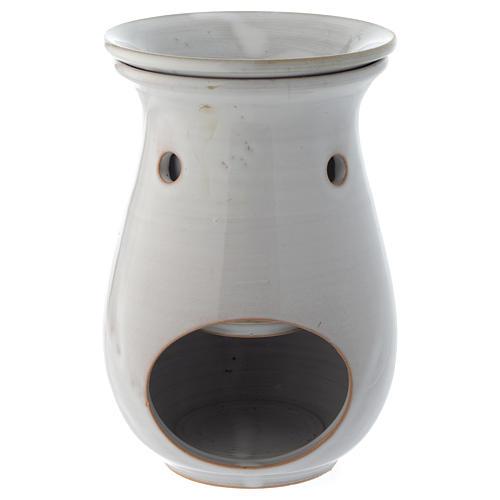 Queimador de Essências Cerâmica Branca 18 cm 1